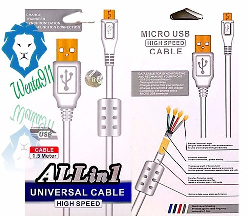 cable carga usb+filtro samsung huawei blu zte mayor y detal