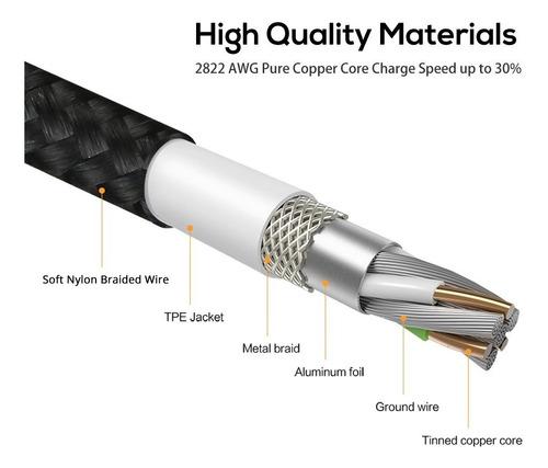 cable carga y datos magnético de nylon topk 3 en 1 oferta!!