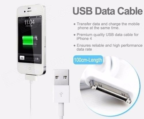 cable cargador certificado usb iphone 4 4s ipad ipod todo-a1