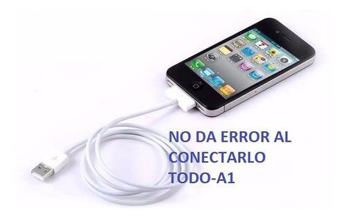 cable cargador certificado usb iphone 4 4s ipad ipod todo-a1
