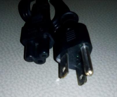 cable cargador corriente 3 polos tipo mickey poder laptop