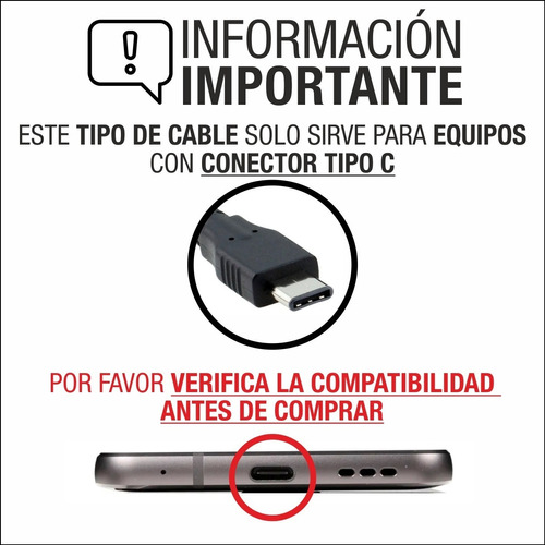 cable cargador datos usb 3.1 huawei p10 plus mate 9 pro p20 p30 lite