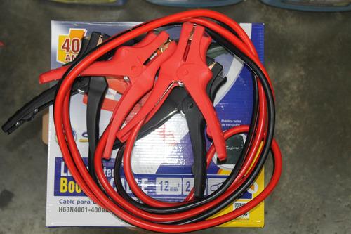 cable cargador de baterias para autos cocodrilo con linterna