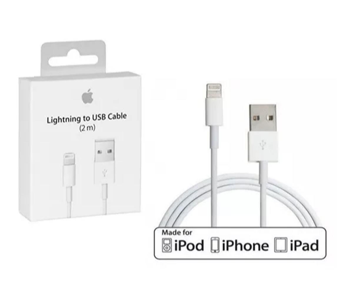 3faabe6e675 cable cargador iphone 5 6 7 8 plus x ipad lightning 2 metros. Cargando zoom.