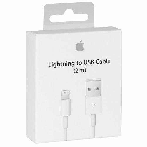 cable cargador iphone 5 6 7 8 plus x ipad lightning 2 metros
