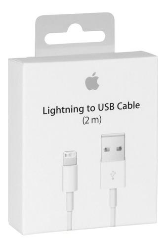 cable cargador iphone 5 6 7 8 x original sellado 2 metros