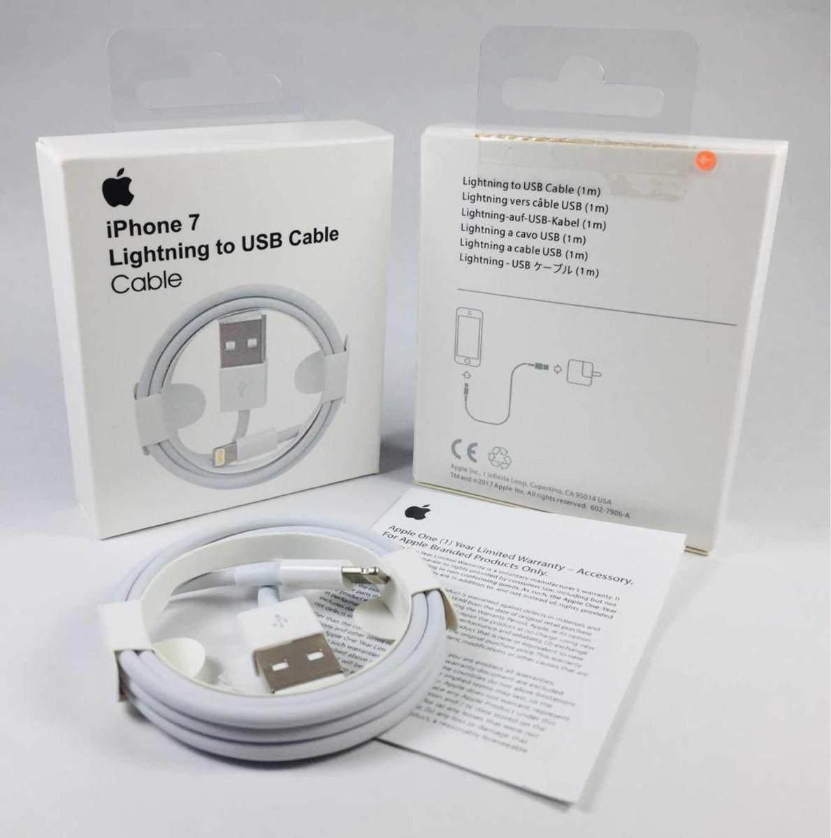 db99dc1ca13 Cable Cargador iPhone Apple 5/6/7/8/x Original - $ 299,99 en Mercado ...