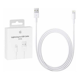 Cable Cargador iPhone Lightning A Usb 2 Metros Envio Gratis