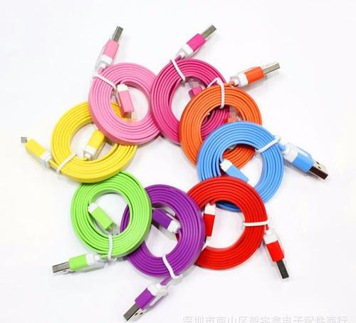cable cargador micro usb plano 1 metro (samsung, bb, huawei)
