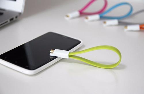 cable cargador morado android imán sincronización micro usb