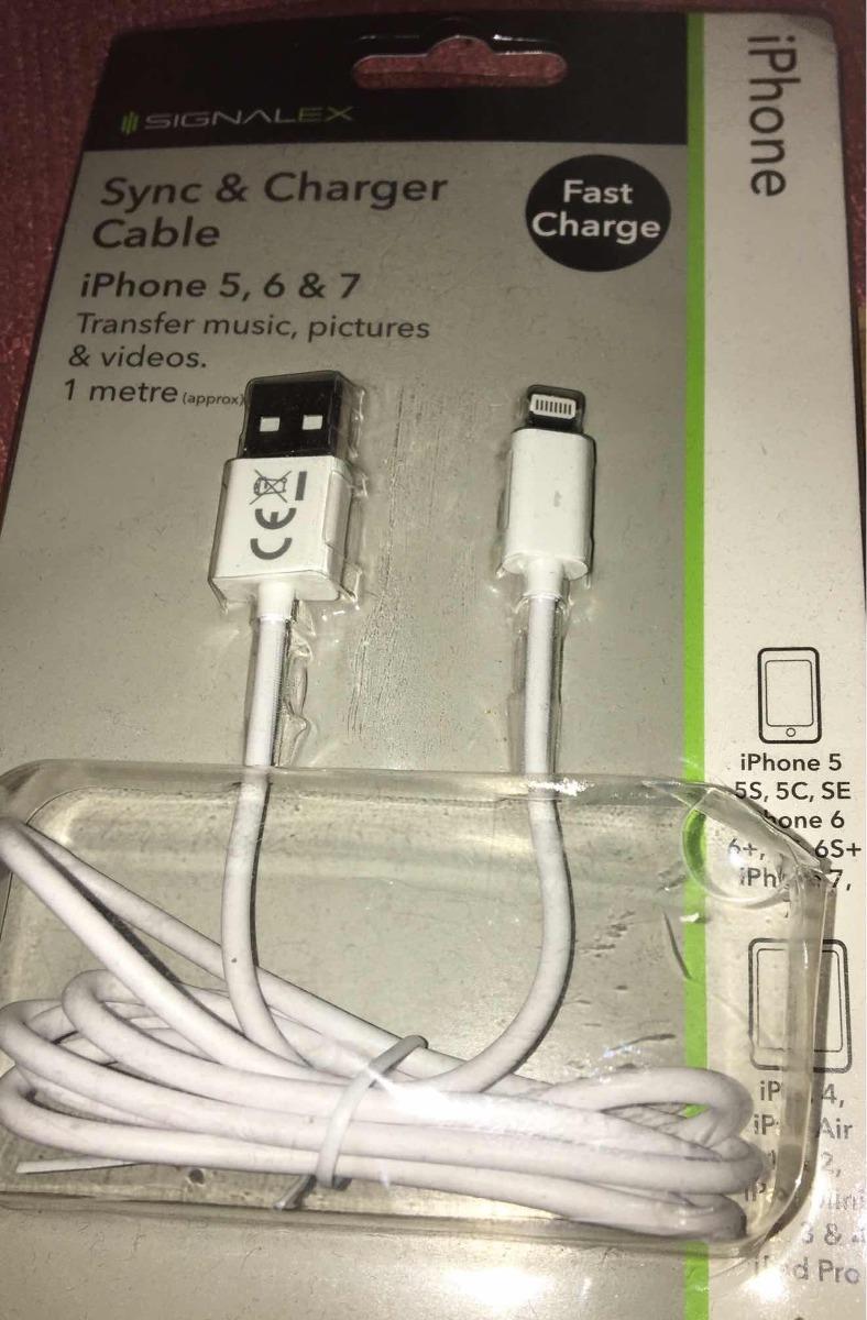 official photos d2e22 c946d Cable Cargador Para iPhone 5,6&7