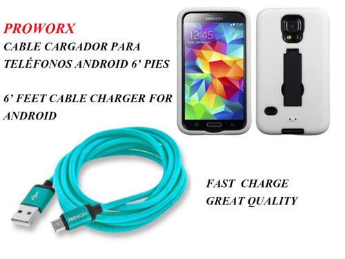 cable cargador para android 6 pies