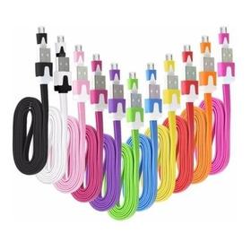 Cable Cargador Samsung Micro Usb Plano 1m Set De 10 Cables