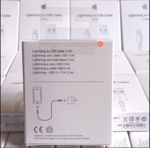 cable cargador usb iphone original apple 5 6 6s 7 8 x 1 y 2m