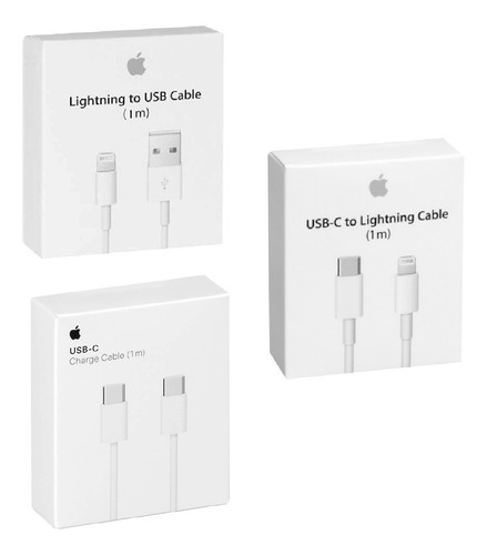 cable cargador usb tipo c lightning 1m 2m  iphone 11 pro max