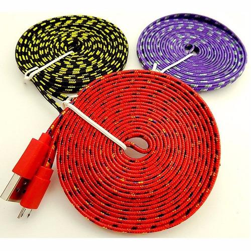cable cargador v8 micro usb 3 metros universal uso rudo
