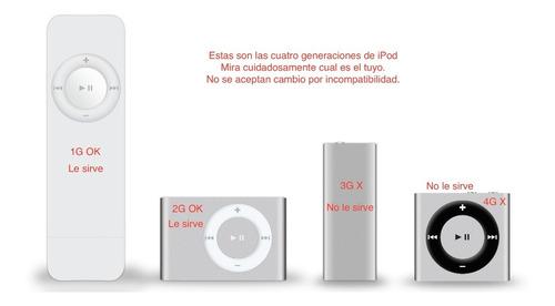 cable cargador y datos ipod shuffle 1g y 2g