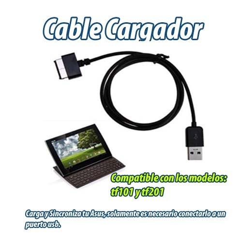 cable cargador y sincronizador para asus tf101 y tf201