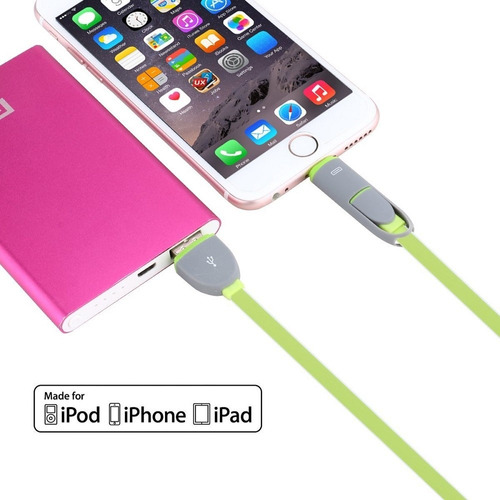 cable celular iphone android micro usb 2 en 1 ldnio