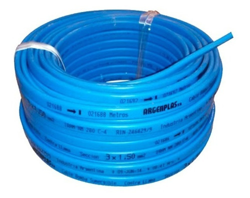 cable chato p/ bomba sumergible 3x1,5mm2. 30mts.