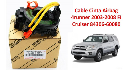 cable cinta airbag 4runner 2003-2008 fj cruiser 84306-60080