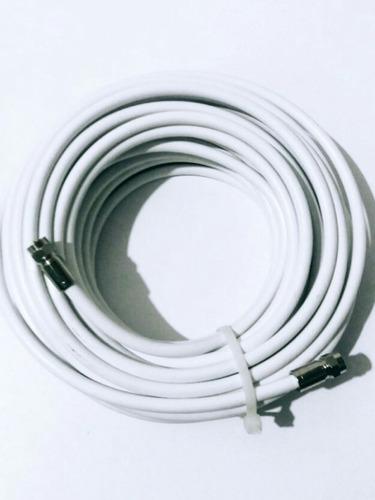cable coaxial 15mts + 2 conectores directv antena