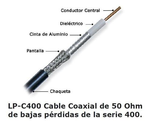 cable coaxial lmr 400 lanpro 50 ohm baja pérdida bobina 100m