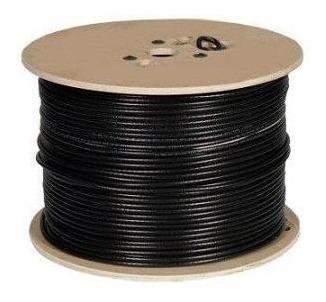 cable coaxial rg6 directv intercable  bobina 305 mts (negro)