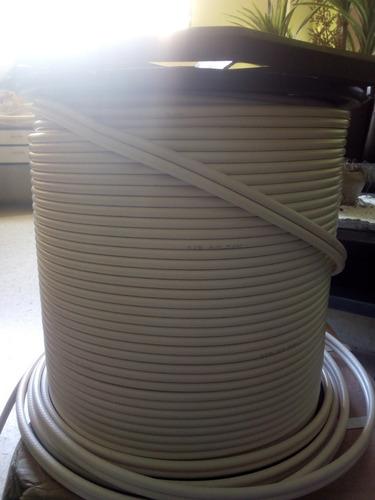 cable coaxial rg6 negro comscompe 10mts x 4verd