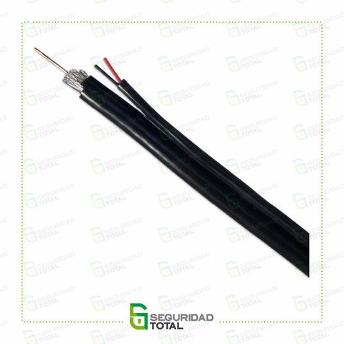 cable coaxil rg59 con bipolar - malla de aluminio - 75 ohms