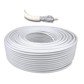 Cable Coaxil Rg6 Bobina Por 152 Metros. Color Blanco