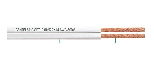 cable cobre duplex 2 x 16 blanc
