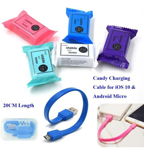 cable compatible con ip xh-i5-1617 mini colores 20cm celular