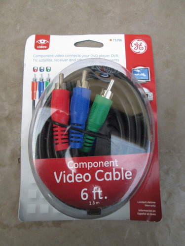 cable componente rgb general electric 1.8m