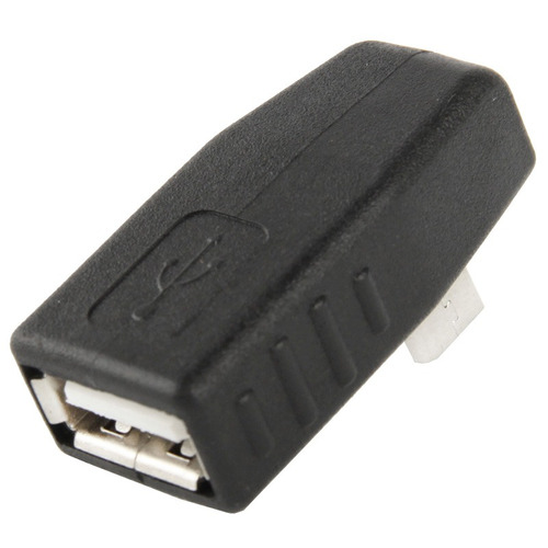 cable conector adaptador usb micro 2.0 af 90 grado negro