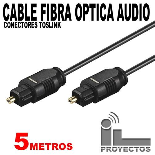 cable conector de fibra óptica audio sonido 5 mts toslink