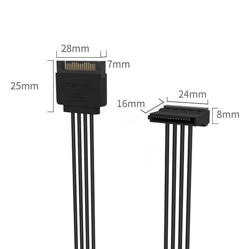 cable conector esata sata ide orico dc15p-px3 estandar pin