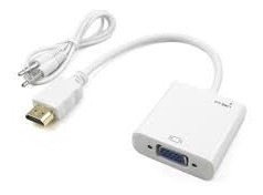 cable conversor de hdmi a vga + audio jack para notebook