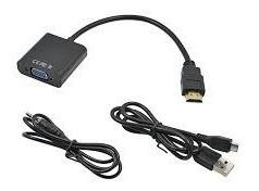 cable conversor hdmi a vga activo usb ps4 1080p con audio
