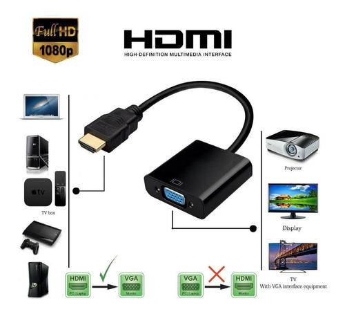 cable conversor hdmi a vga full hd video proyector ps3 1080p