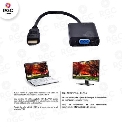 cable conversor hdmi a vga video proyector ps3 1080p