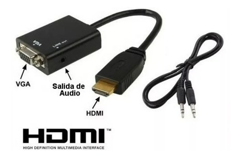 cable conversor hdmi a vga video ps3 1080p con audio cordoba