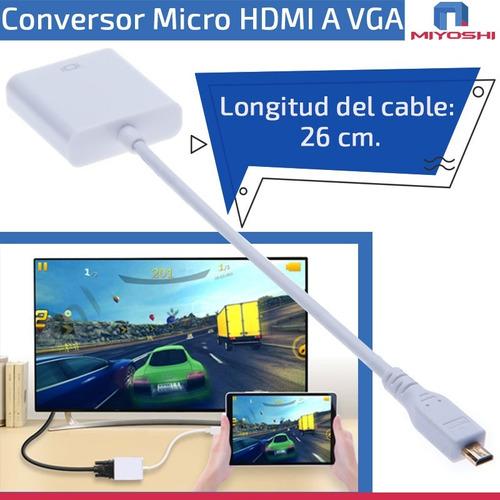cable conversor micro hdmi a vga adaptador full hd v1.4 1080