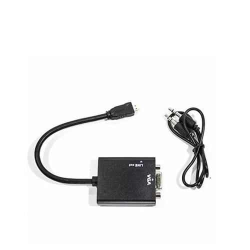 cable conversor micro hdmi a vga video audio 1080p fact a