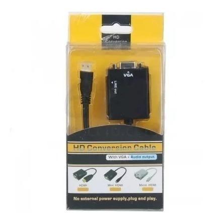 cable conversor micro hdmi a vga videocon cable de  audio 1080p