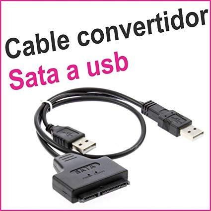cable convertidor adapatador usb a sata 2.5 disco duro lapto
