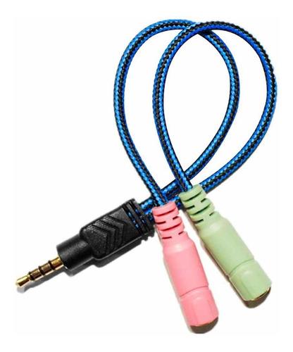 cable convertidor adaptador audio y micrófono 3.5mm xbox ps4