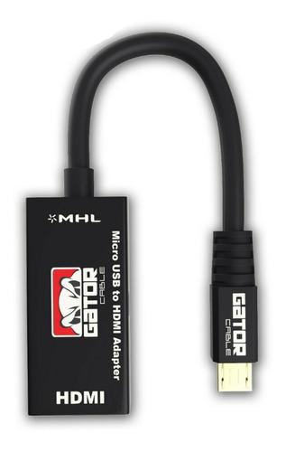 cable convertidor / adaptador mhl de micro usb a hdmi (15)