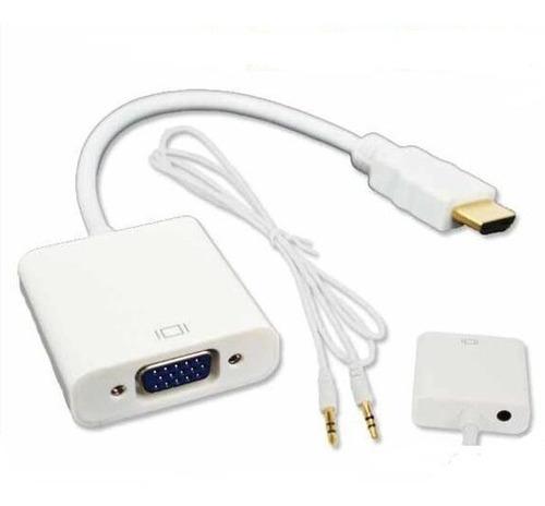 cable convertidor de hdmi a vga con audio pasivo a u d i o