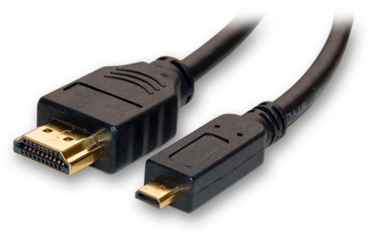 Cable Convertidor De Micro Hdmi A Hdmi Para Tablet